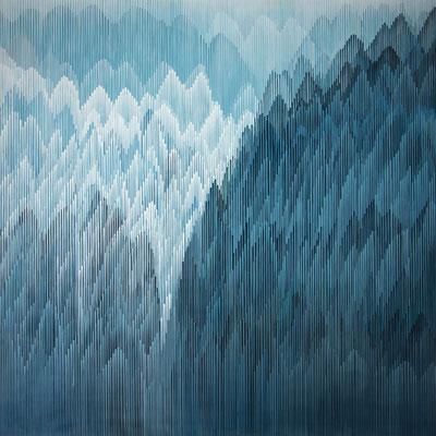 2. 1. 011, 150 x 150 cm, Acryl auf Leinwand, 2011