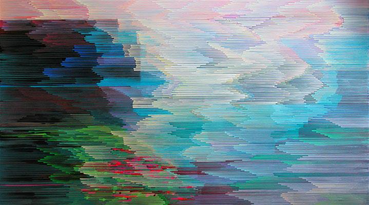 4. 4. 011, 90 x 160 cm, Acryl auf Leinwand, 2011