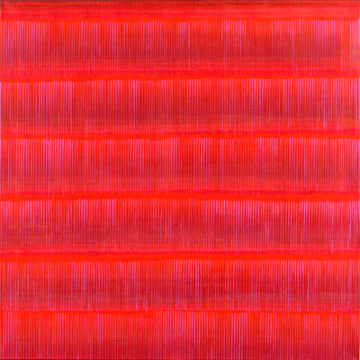 10. 2. 02, 120 x120 cm, Acryl auf Leinwand, 2002