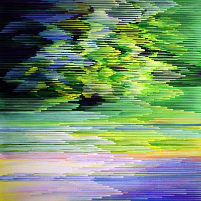 4. 1. 010, 80 x80 cm, Acryl auf Leinwand, 2010