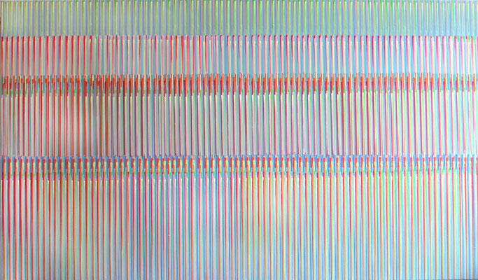 1. 8. 016, 70 x 120 cm, Acryl auf Leinwand, 2016