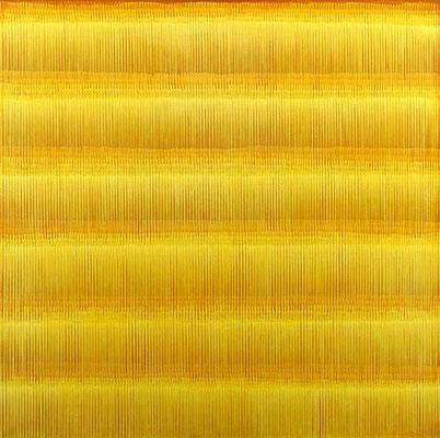 9. 2. 01, 150 x 150 cm, Acryl auf Leinwand, 2001