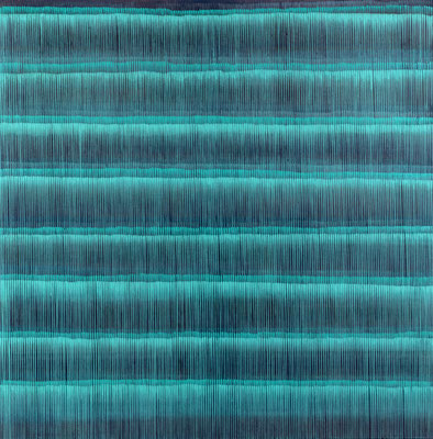 7. 3. 01, 150 x150 cm, Acryl auf Leinwand, 2001