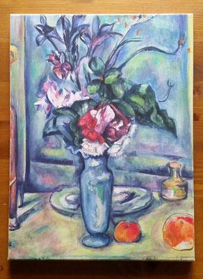 nach Cézanne. Für Maman. Acryl auf Leinen.