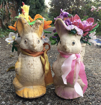 Bunny Bouquets, Mixed Media