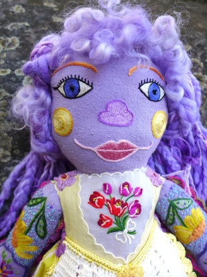 The Lavender Girl, detail of face