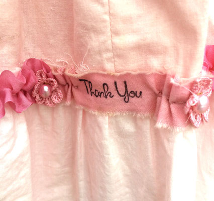 The Great Pink Whale Dress, detail of ruffle