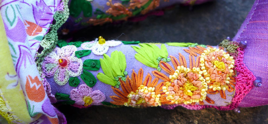 The Lavender Girl, detail of leg