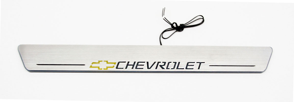 UMBRALES LED MOVIL LOGO CHEVROLET-249€