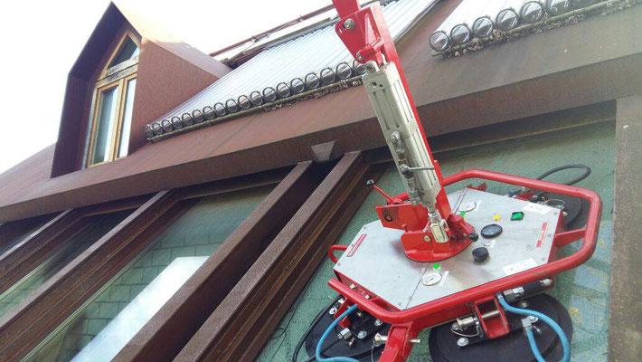 Dachfenster Ausbau mit Glassauger