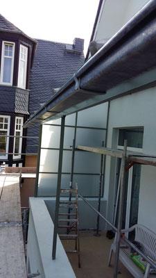 Balkonverglasung in VSG mit matter Folie