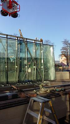 Reparatur defektes Schaufenster
