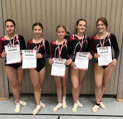 v.l. Maria Stab, Emma Ankovic, Mila Metzger, Annika Delb und Marie Lind