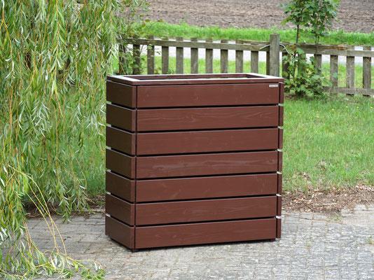 Pflanzkasten / Pflanzkübel Holz L, Oberfläche: Dunkelbraun