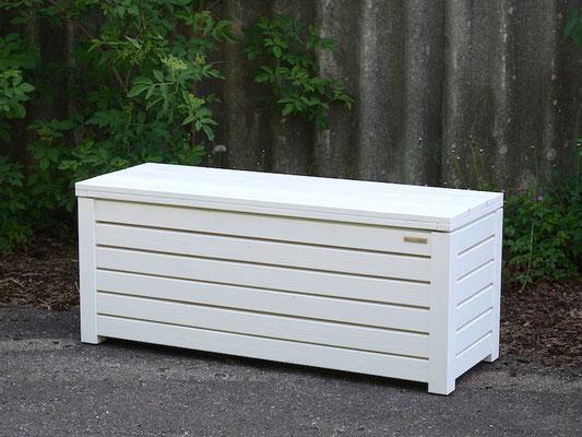 Truhenbank / Sitzbank Holz M, Oberfläche: Weiß