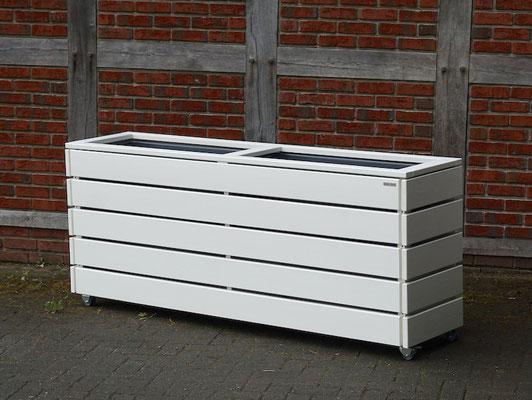 Pflanzkasten / Pflanzkübel Holz Lang L, Oberfläche: Weiß