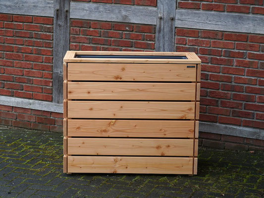 Pflanzkasten / Pflanzkübel / Kräterbeet Holz L, Oberfläche: Natur Geölt