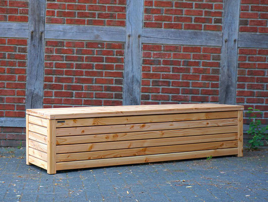 Truhenbank / Sitzbank Holz nach Maß, Oberfläche: Natur Geölt