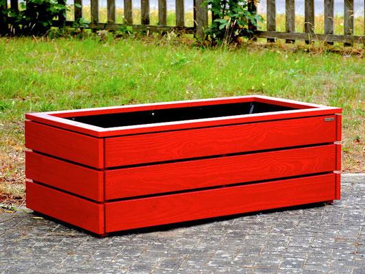 Pflanzkasten / Pflanzkübel Holz nach Maß, Oberfläche: Nordisch Rot