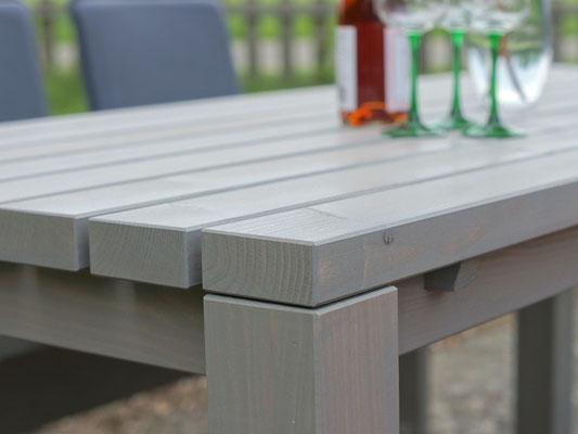 Gartentisch Holz 1, Oberfläche: Transparent Grau