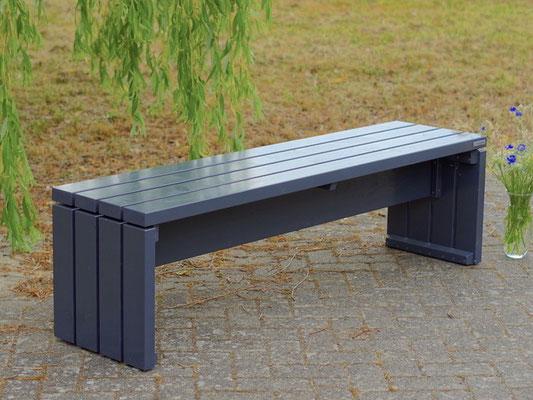 Gartenbank Holz 1, Länge: 160 cm, Oberfläche: Anthrazit