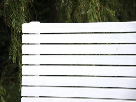 Pflanzkasten Holz mit Sichtschutz, Länge: 112 cm, Höhe: 180 cm, Oberfläche: Weiß