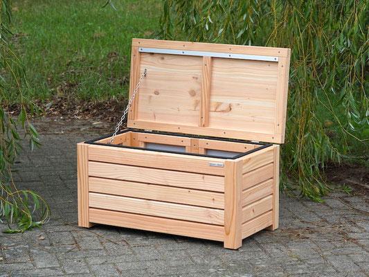 Truhenbank / Sitzbank Holz S, Oberfläche: Natur, atmungsaktiv & wasserdicht