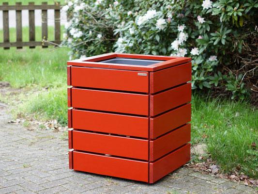 Pflanzkübel / Pflanzkasten Holz L, Oberfläche: Nordisch Rot / Braunrot RAL 3011