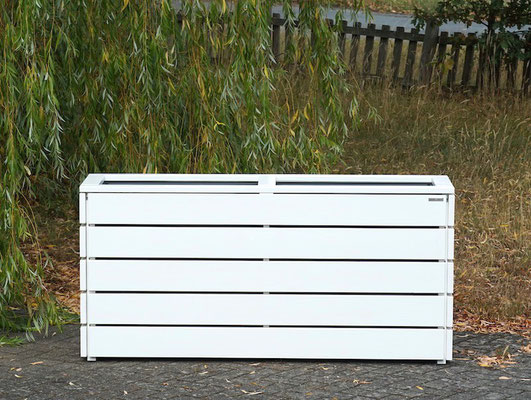 Pflanzkasten / Pflanzkübel Holz Lang M, Oberfläche: Weiß