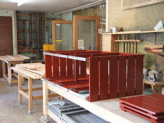 Unsere Werkstatt - Holz, Douglasie montieren