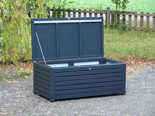 Auflagenbox / Kissenbox Holz, atmungsaktiv & wasserdicht, Oberfläche: Anthrazitgrau RAL 7016