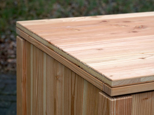 Auflagenbox / Kissenbox Holz nach Maß, Größe 160x60x70 cm, Oberfläche: Natur Geölt