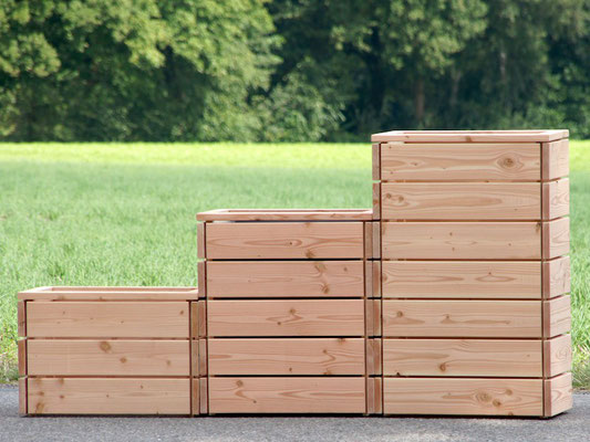 Pflanzkasten / Pflanzkübel Holz S, Oberfläche: Natur / Höhe: 52 cm