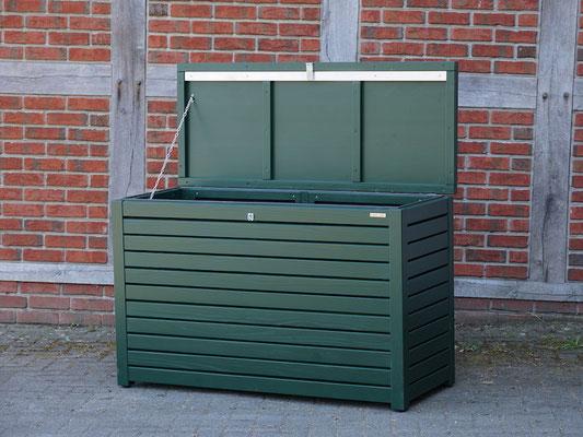 Auflagenbox / Kissenbox Holz, atmungsaktiv & wasserdicht, Oberfläche: Tannengrün RAL 6009