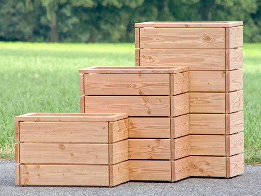 Pflanzkasten / Pflanzkübel Holz S, Oberfläche: Natur
