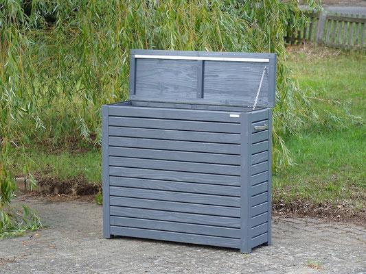 Auflagenbox / Kissenbox Holz nach Maß, Oberfläche: Schiefergrau RAL 7015