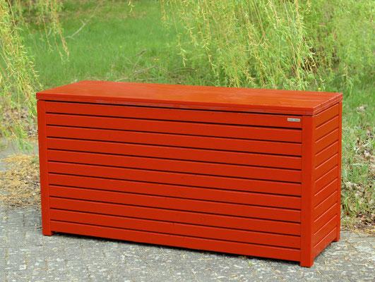 Auflagenbox / Kissenbox Holz, Oberfläche: Nordisch Rot, atmungsaktiv & wasserdicht