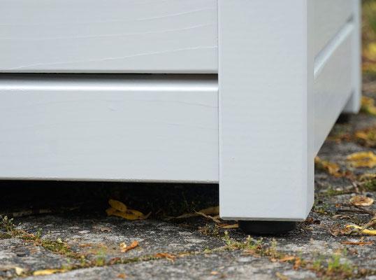 Auflagenbox / Kissenbox Holz, Oberfläche: Lichtgrau RAL 7035