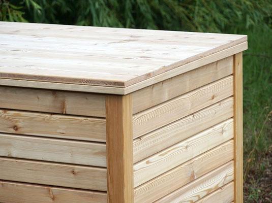 Auflagenbox / Kissenbox Holz nach Maß, Oberfläche: Natur