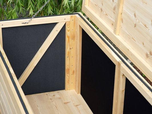 Auflagenbox / Kissenbox Holz, Oberfläche: Natur