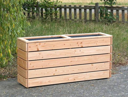 Pflanzkasten / Pflanzkübel Holz Lang M, Oberfläche: Natur