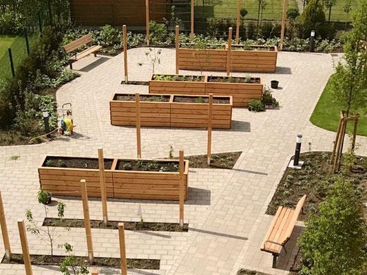 Reihen - Hochbeet Holz nach Maß, Länge 300 cm, Oberfläche: Transparent Geölt Natur