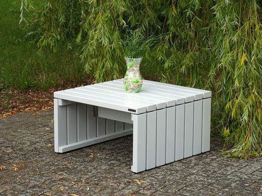Lounge Möbel / Lounge Tisch Holz, Oberfläche: Lichtgrau