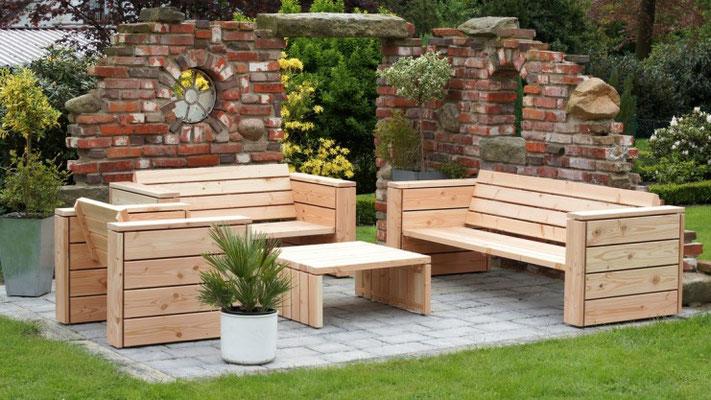 Loungemöbel aus heimischem Holz, Douglasie