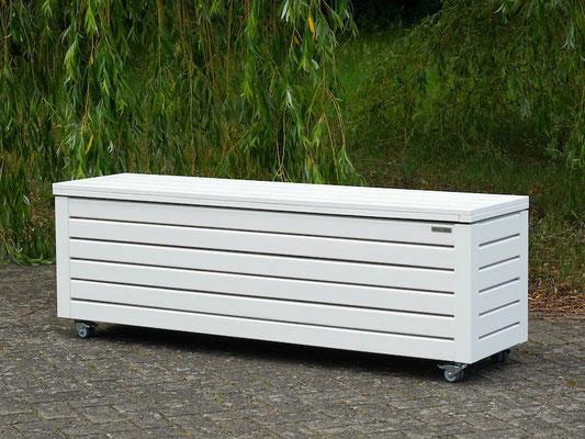 Truhenbank / Sitztruhe Holz L, Oberfläche: Weiß, atmungsaktiv & wasserdicht
