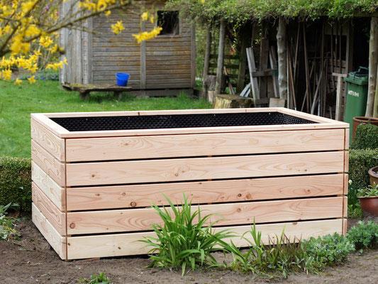Unser Standard - Hochbeet aus Holz, Douglasie - Länge 200 cm