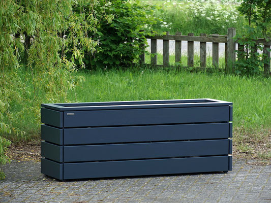 Pflanzkasten / Pflanzkübel Holz Lang nach Maß, Oberfläche: Anthrazit