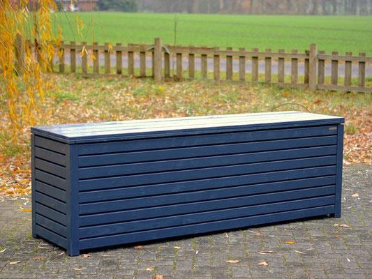 Auflagenbox / Kissenbox Holz, Oberfläche: Anthrazitgrau RAL 7016, atmungsaktiv & wasserdicht