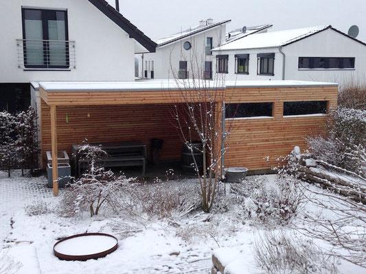 Carport / Geräteschuppen aus Holz