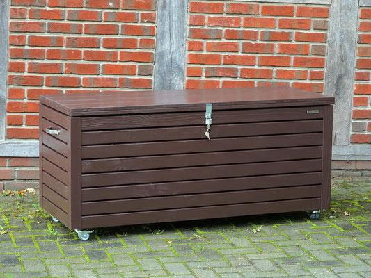 Auflagenbox / Kissenbox Holz nach Maß, atmungsaktiv & wasserdicht, Oberfläche: Dunkelbraun / Schokoladenbraun RAL 8017
